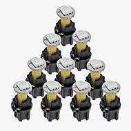 10 סטים DC 12V 0.2w T5 הוביל הנורה 5050smd מכשיר לוח המחוונים אור בעל צהוב