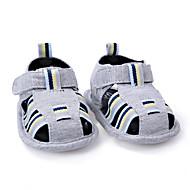 Для детей Дети Сандалии Обувь для малышей Ткань Лето Повседневные Обувь для малышей На крючках На плоской подошвеТемно-серый Зеленый