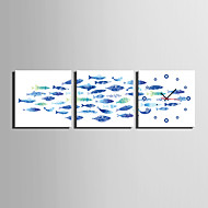 Moderno/Contemporâneo Casual Animais Outros Relógio de parede,Quadrada Tela 25 * 25 * 3 Interior Relógio