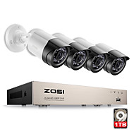 ZOSI® 4CH 1080P HDMI P2P TVI DVR Surveillance System Video Output 4PCS 2000TVL 2.0MP IP Camera Home Security CCTV Kits 1TB HDD