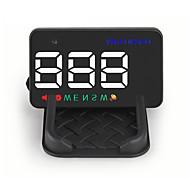 2017 nuevo jefe a5 hasta HUD pantalla de 3.5 pulgadas proyector de la exhibición del GPS del coche del parabrisas del velocímetro exceso