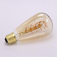 4W E26/E27 Izzószálas LED lámpák ST64 1 COB 400 lm Meleg fehér Állítható Dekoratív AC 220-240 V 1 db.