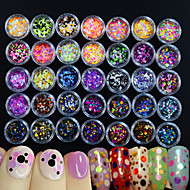 35bottles/set Unha Arte Decoração strass pérolas maquiagem Cosméticos Designs para Manicure