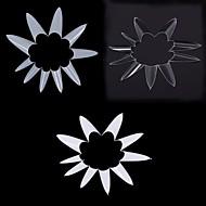 1bag / 500 stk stiletto punktet form naturlig hvit akryl fransk falsk spiker uv gel DIY spiker tips