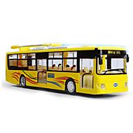 プルバック式乗り物おもちゃ バス メタル