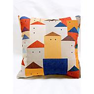 1 pçs Linho Almofada Inovadora Fronha Almofada de Corpo Almofada de Vigem almofada do sofá,Estampas AbstratasModerno/Contemporâneo