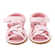 Gyermek Baba Szandálok Első cipő Virágoslány cipők PU Nyár Hétköznapi Ruha Party és Estélyi Első cipő Virágoslány cipők Kombinált Lapos
