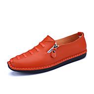 Men's Oxfords Spring Summer Comfort Microfibre Leather Office & Career Casual Flat Heel Zipper