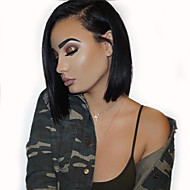 8A Bob Straight Wigs Lace Front Wigs Brazilian Virgin Human Hair Unprocessed  With Baby Hair For Women