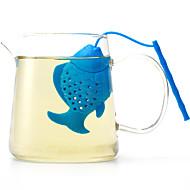 Silikoni kala tehdä teetä muoti artikkeleita päivittäiseen käyttöön luova väri satunnainen