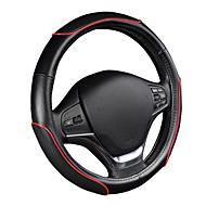 Autoyouth Auto Lenkradabdeckung sportliches Wellenmuster mit roter Linie näht m Größe passt 38cm / 15 Durchmesser Autozubehör