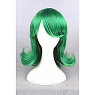 Kvinder Kort Grønn Rett Syntetisk hår Karneval Parykk Cosplay-parykk Halloween parykk