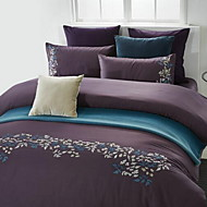 Set of 4 Pieces Cotton Bedding Quilt 200*230 Bed Sheet 250*250 Pillowcase 48*74