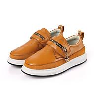 Gutt-Lær-Lav hæl-Komfort-一脚蹬鞋、懒人鞋-Fritid-Svart Brun