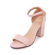 Women's Sandals Summer Fall Club Shoes PU Office & Career Dress Casual Chunky Heel Buckle