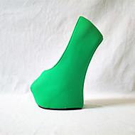 Ženske Cipele na petu Proljeće Jesen Inovativne cipele PU Zabava i večer Platforma Crn Fuksija Zelen Pink