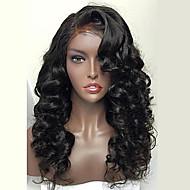 8a brasiliansk fulle blonder menneskelig hår parykk for kvinne bølgete menneskelig hår parykker med babyen hår fullt blonder parykk