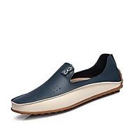 Herren-Sneaker-Büro Lässig-Leder-Flacher Absatz-Komfort-Beige Blau