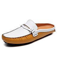 Men's Clogs & Mules Spring Summer Comfort Light Soles Cowhide Outdoor Office & Career Party & Evening Athletic Casual Flat Heel Walking