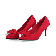 Feminino-Saltos-Conforto Inovador Gladiador Menina Flor Shoes Solados com Luzes Sapatos clube Sapatos formais-Salto Baixo Salto Agulha-