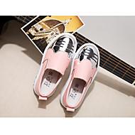 """בנות נעליים ללא שרוכים צעדים ראשונים בד אביב יומיומי כושר וחיטוב לבן ס""""מ 7.6 - ס""""מ 9.50"""