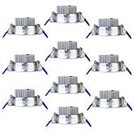 Youoklight 10pcs 3w 250lm ac85-265v 3 leds x branco quente 3000k teto downlight - prata
