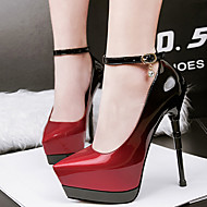 Women's Heels Spring Club Shoes Patent Leather Dress Stiletto Heel Buckle