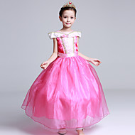 Ball Gown Tea-length Flower Girl Dress - Satin Tulle Flocking Off-the-shoulder with Bow(s) Crystal Detailing Ruffles