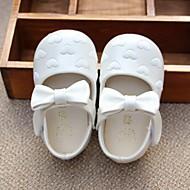 ילדים-סנדלים-PU-נעלי ילדת הפרח-לבן ורוד-יומיומי-עקב שטוח