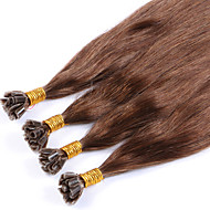 tukku perun naiset remy keratiini kynnenpään u kärkeen ihmisen hiusten pidennykset suora 1g / säie 100strands # 6