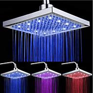 top spuit douche kop met tricolor lichtgevende kleurtemperatuur / 8 inch water booster top spray (abs plating)