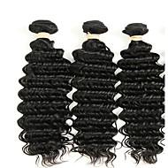 Hiukset kutoo Brasilialainen Syvät aallot 6 kuukautta 3 osainen hiukset kutoo