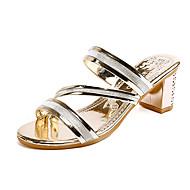 Dame-PU-Tykk hæl Blokker hælen-Komfort-Sandaler-Formell Fritid-