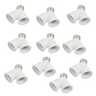 10 ks E27 až E27 objímce žárovku y tvar 2 rozdělovač konvertor