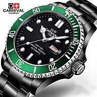 Carnival watches automatic mechanical watch stainless steel luminous calendar waterproof sports black men watch