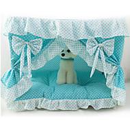 kočičí pelíšek domácí mazlíčci postýlky bowknot dům modrá růžová