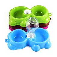 Katze Hund Schalen & Wasser Flaschen Futter-Vorrichtungen Haustiere Schüsseln & Füttern Tragbar Zufällige Farben