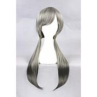 cosplay peruka sentetik Bez czepka Peruki Krótki Szary Włosy