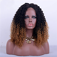 Two Tone Ombre T1B/27 Full Lace Human Hair Wigs-Glueless Kinky Curly 180% Density Brazilian Virgin Hair Adjustable Lace Wigs for Fashion Woman