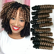 Curlkalon Synthetic ombre braiding hair curlkalon braids free hook gift kanakalon crochet braids bouncy curly saniya curls 20roots/pack 5packsmakehead