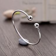 Dames Cuff armbanden Basisontwerp Modieus Klassiek Sterling zilver Ronde vorm Geometrische vorm Bal Zilver Sieraden VoorFeest Verjaardag