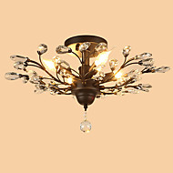 Flush Mount ,  Traditional/Classic Rustic/Lodge Painting Feature for Crystal Designers MetalLiving Room Bedroom Dining Room Kitchen Study