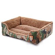 cama do cão cama do gato animal de estimação cor camuflagem tecido macio