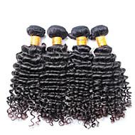 Brazilian Curly Hair Weave, 4 pcs/ lot Free Shipping Brazilian Deep Wave Virgin Hair
