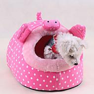 kočičí pelíšek pet postel roztomilý kreslený růžová zelená červená
