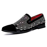 Homme Chaussures Cuir Printemps Automne Moccasin Mocassins et Chaussons+D6148 Marche Paillette Brillante Pour Mariage Décontracté Soirée