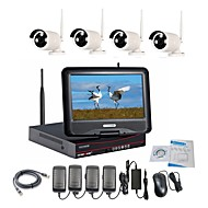 Strongshine® Wireless IP Camera with 960P/Infrared/Waterproof and NVR with 10.1Inch LCD Combo Kits
