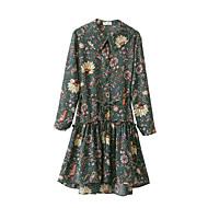 Damen Hülle Kleid-Ausgehen Street Schick Solide Rundhalsausschnitt Midi Kurzarm Baumwolle Alle Saisons Tiefe Hüfthöhe Mikro-elastisch