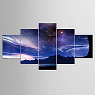 Giclee Print Maisema Moderni Realismi,5 paneeli Kanvas Mikä tahansa muoto Tulosta Art Wall Decor For Kodinsisustus