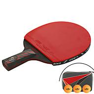 Ping Pang/Tischtennis-Schläger Ping Pang/Tischtennisball Ping Pang Nanometer Meterialien Langer Griff Pickel 1 Schläger 3